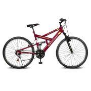 Bicicleta Kyklos Aro 26 Caballu 7.2 Alumínio Natural 21V Vermelho