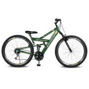 Bicicleta Kyklos Aro 26 caballu 7.4 Rebaixada 21V A-36 Verde Bandeira