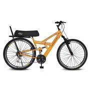 Bicicleta Kyklos Aro 26 Caballu 7.7 Rebaixada 21 M A-36 com Selim Banana Amarelo