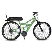 Bicicleta Kyklos Aro 26 Caballu 7.7 Rebaixada 21 M A-36 com Selim Banana Verde