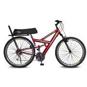 Bicicleta Kyklos Aro 26 Caballu 7.7 Rebaixada 21 M A-36 com Selim Banana Vermelho