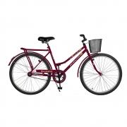 Bicicleta Kyklos Aro 26 Circular 5.5 Freio Contrapedal com Cesta Violeta