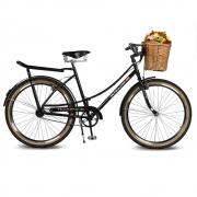 Bicicleta Kyklos Aro 26 Jolie 2.1 com Bagageiro Preto