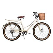 Bicicleta Kyklos Aro 26 Jolie Retrô Freio V-Brake 6V Bege