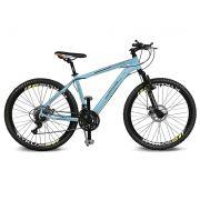 Bicicleta Kyklos Aro 26 Kivnon 8.5 Freio a Disco 21V Azul/Laranja