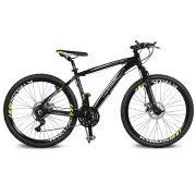 Bicicleta Kyklos Aro 26 Kivnon 8.5 Freio a Disco A-36 21V Preto/Amarelo