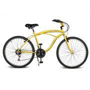Bicicleta Kyklos Aro 26 Pontal 6.4 Freio Manual 21V Amarelo