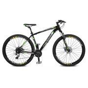 Bicicleta Kyklos Aro 29 Endurance 9.7 24V Freio a Disco com Suspensão A-36 Preto/Verde