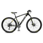 Bicicleta Kyklos Aro 29 Endurance 9.9 27 V. Freio Hidráulico Suspensão com Trava Preto/Amarelo