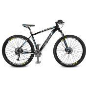 Bicicleta Kyklos Aro 29 Endurance 9.9 27 V. Freio Hidráulico Suspensão com Trava Preto/Azul
