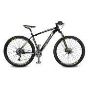 Bicicleta Kyklos Aro 29 Endurance 9.9 27 V. Freio Hidráulico Suspensão com Trava Preto/Verde