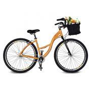Bicicleta Kyklos Aro 29 Urbis 8.9 V-Brake 3V Nexus com Cesta Amarelo