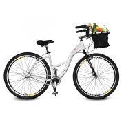 Bicicleta Kyklos Aro 29 Urbis 8.9 V-Brake 3V Nexus com Cesta Branco