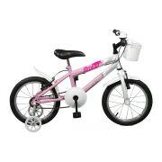 Bicicleta Master Bike Aro 16 Free Girl Freio V-Brake Rosa/Branco