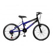 Bicicleta Master Bike Aro 20 Ciclone Plus 7 Marchas V-Brake Azul/Preto