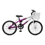Bicicleta Master Bike Aro 20 Serena Freio V-Brake Violeta/Branco