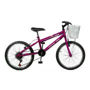 Bicicleta Master Bike Aro 20 Serena Plus 7 Marchas V-Brake Violeta