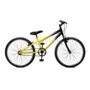Bicicleta Master Bike Aro 24 Ciclone Freio V-Brake Amarelo/Preto