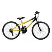 Bicicleta Master Bike Aro 24 Ciclone Plus 21 Marchas V-Brake amarelo/Preto
