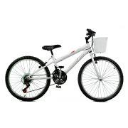 Bicicleta Master Bike Aro 24 Serena Plus 21 Marchas V-Brake Branco