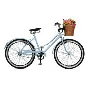 Bicicleta Master Bike Aro 26 Bella Retrô Freio V-Brake Branco/Azulado