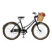 Bicicleta Master Bike Aro 26 Bella Retrô Freio V-Brake Preto