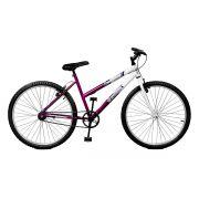 Bicicleta Master Bike Aro 26 Feline Freio V-Brake Violeta/Branco