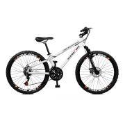 Bicicleta Master Bike Aro 26 Free Rider Freio à Disco A-36 21 V Branco