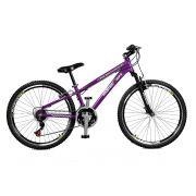 Bicicleta Master Bike Aro 26 Free Rider S A-36 21 Marchas Roxo Neon