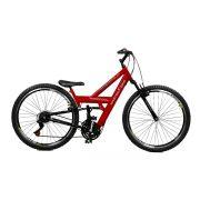 Bicicleta Master Bike Aro 26 Kanguru Rebaixada 21 V A-36 Vermelho/Preto