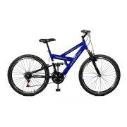 Bicicleta Master Bike Aro 26 Kanguru Style 21 Marchas A-36 V-Brake Azul/Preto