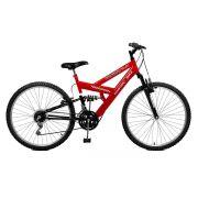 Bicicleta Master Bike Aro 26 Kanguru Style 21 Marchas V-Brake Vermelho/Preto