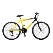 Bicicleta Master Bike Aro 26 Max Power 18 Marchas V-Brake Amarelo/Preto