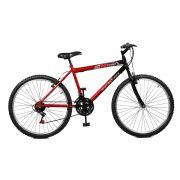 Bicicleta Master Bike Aro 26 Max Power 18 Marchas V-Brake Vermelho/Preto