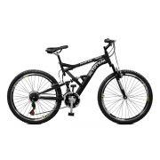 Bicicleta Master Bike Aro 26 Totem Suspensão Full Baixa A-36 21 Marchas Preto
