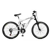 Bicicleta Master Bike Aro 26 Totem Suspensão Full Dupla Alta A-36 Branco
