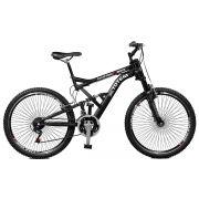 Bicicleta Master Bike Aro 26 Totem Suspensão Full Dupla Alta A-72 Preto
