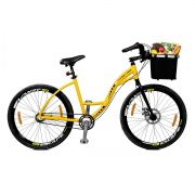 Bicicleta Master Bike Aro 26 Urbis Freio à Disco 3 V Nexus c/ Cesta Amarelo
