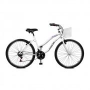 Pagamento Bicicleta Master Bike Aro 26 Ipanema Plus 21 Marchas V-Brake c/ Cesta Branco