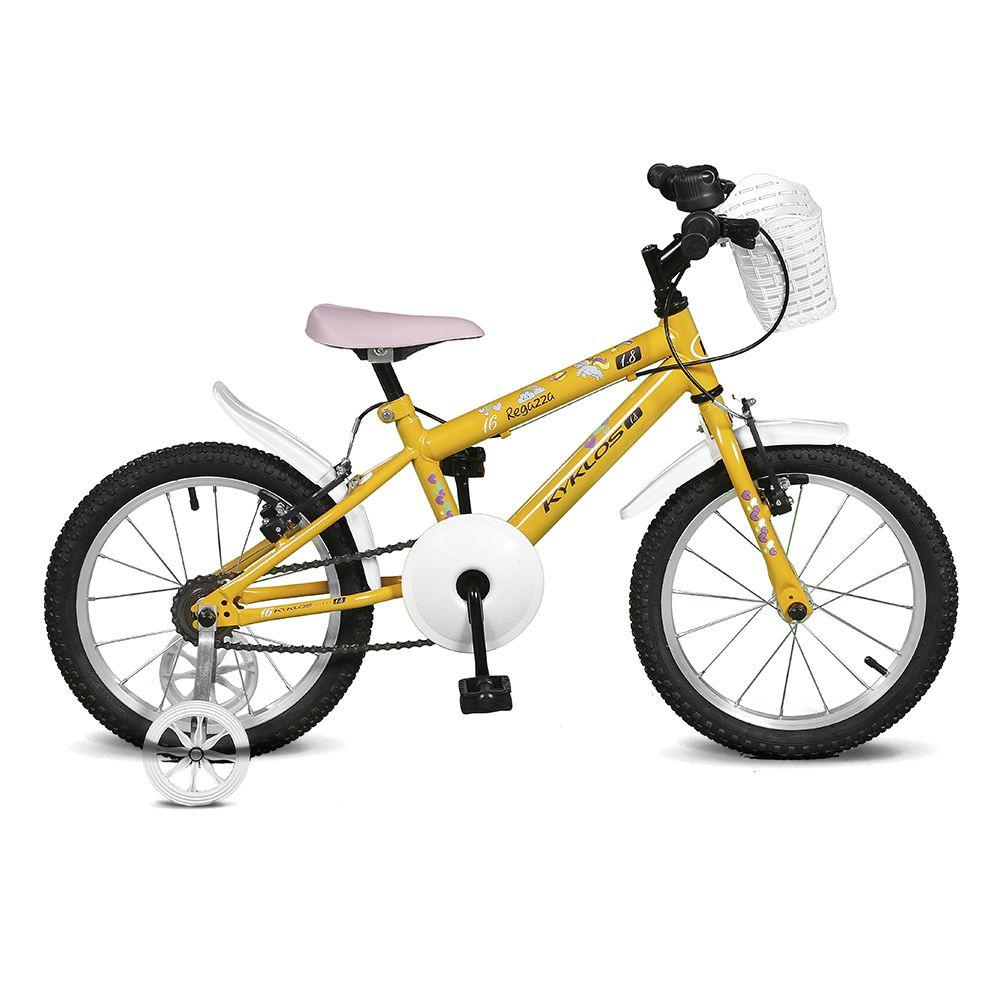 Bicicleta Kyklos Aro 16 Regazza 1.8 Amarelo
