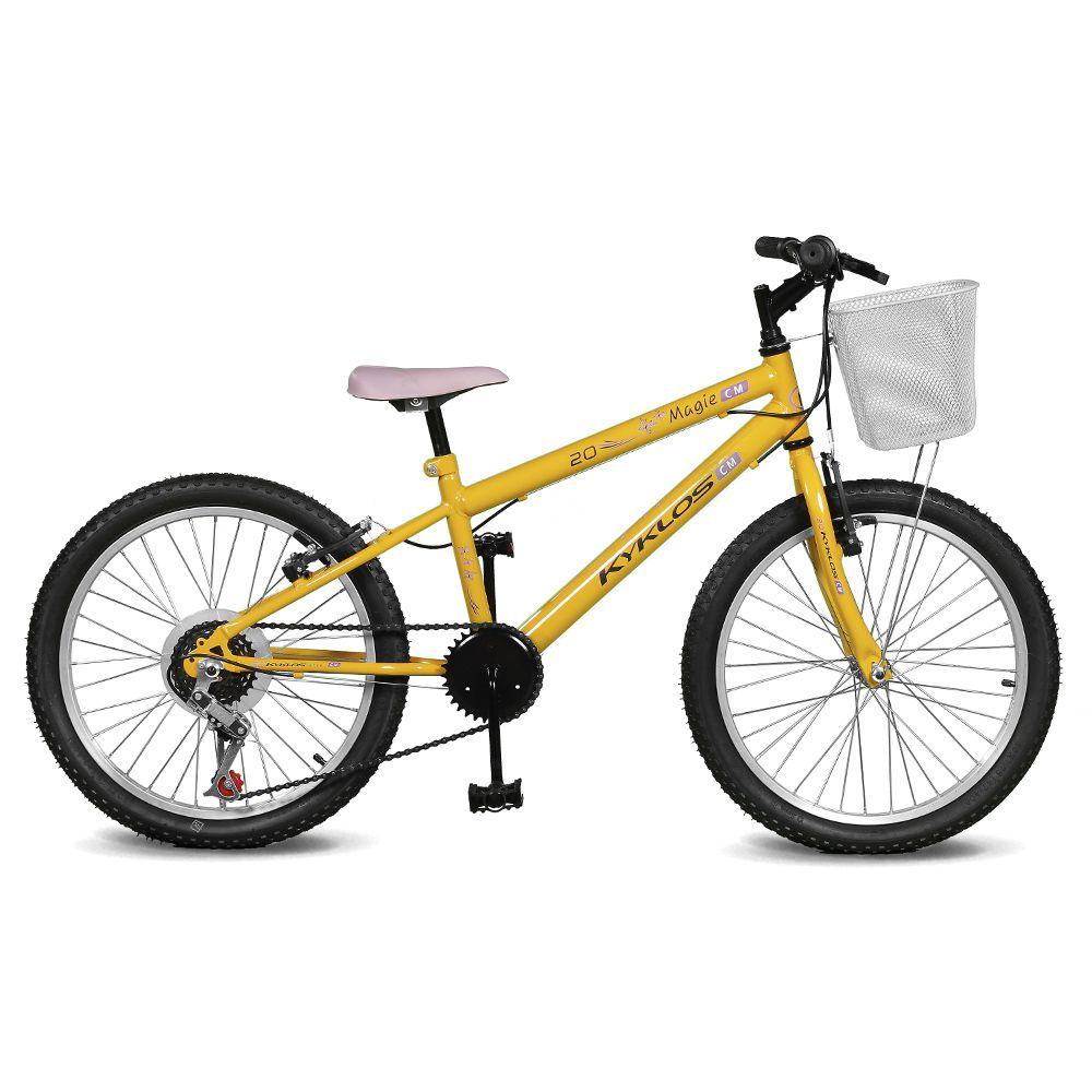 Bicicleta Kyklos Aro 20 Magie 7V Amarelo
