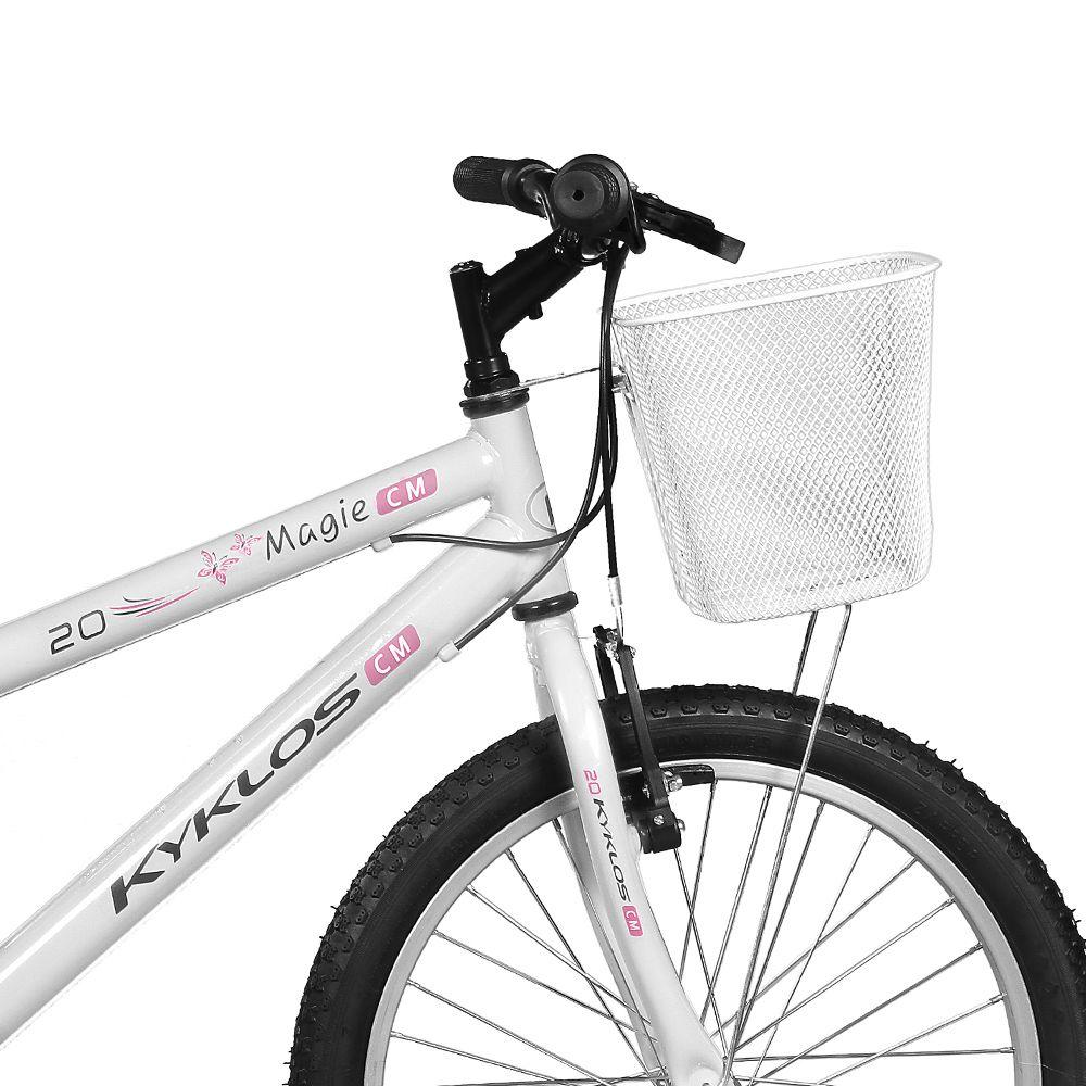 Bicicleta Kyklos Aro 20 Magie 7V Branco
