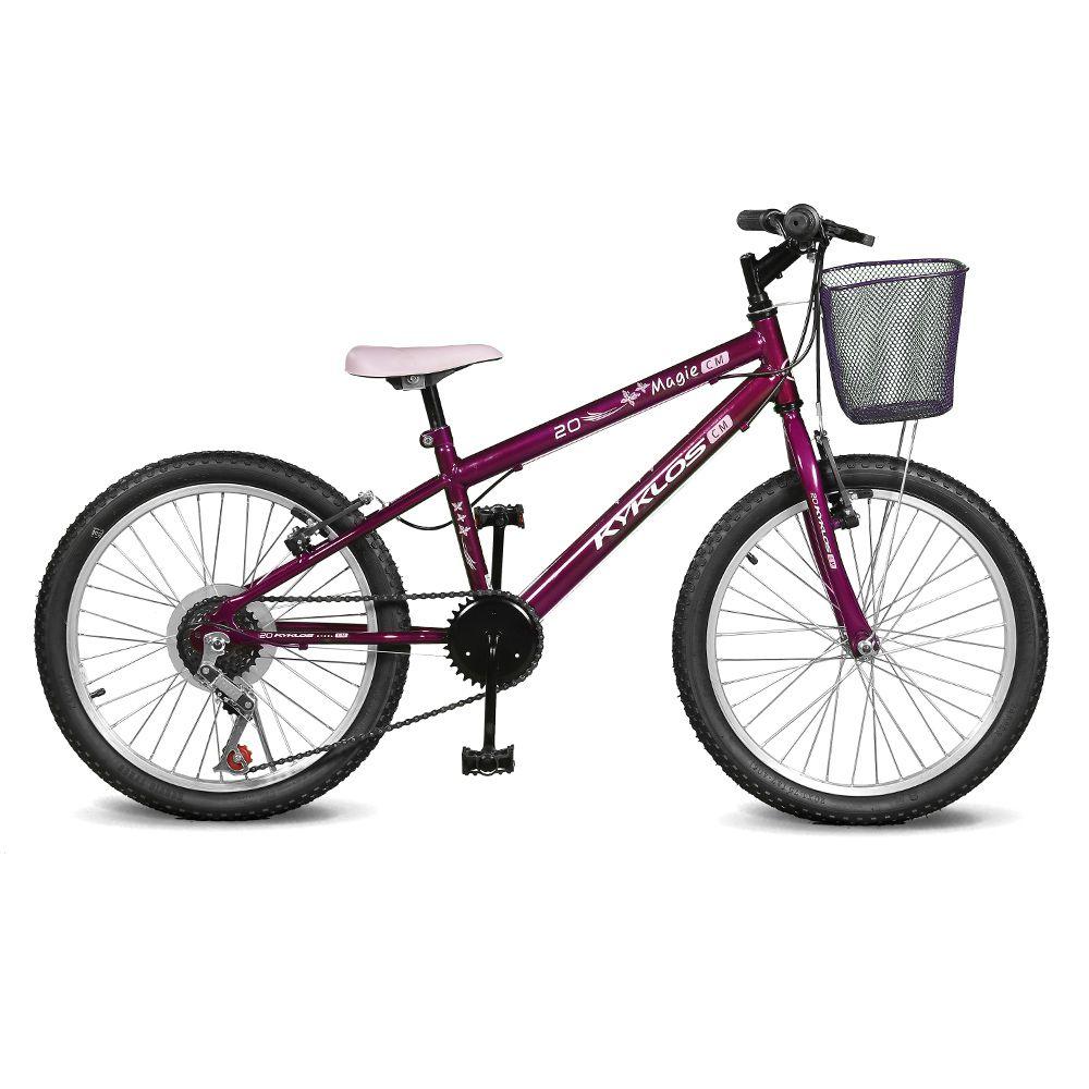 Bicicleta Kyklos Aro 20 Magie 7V Violeta