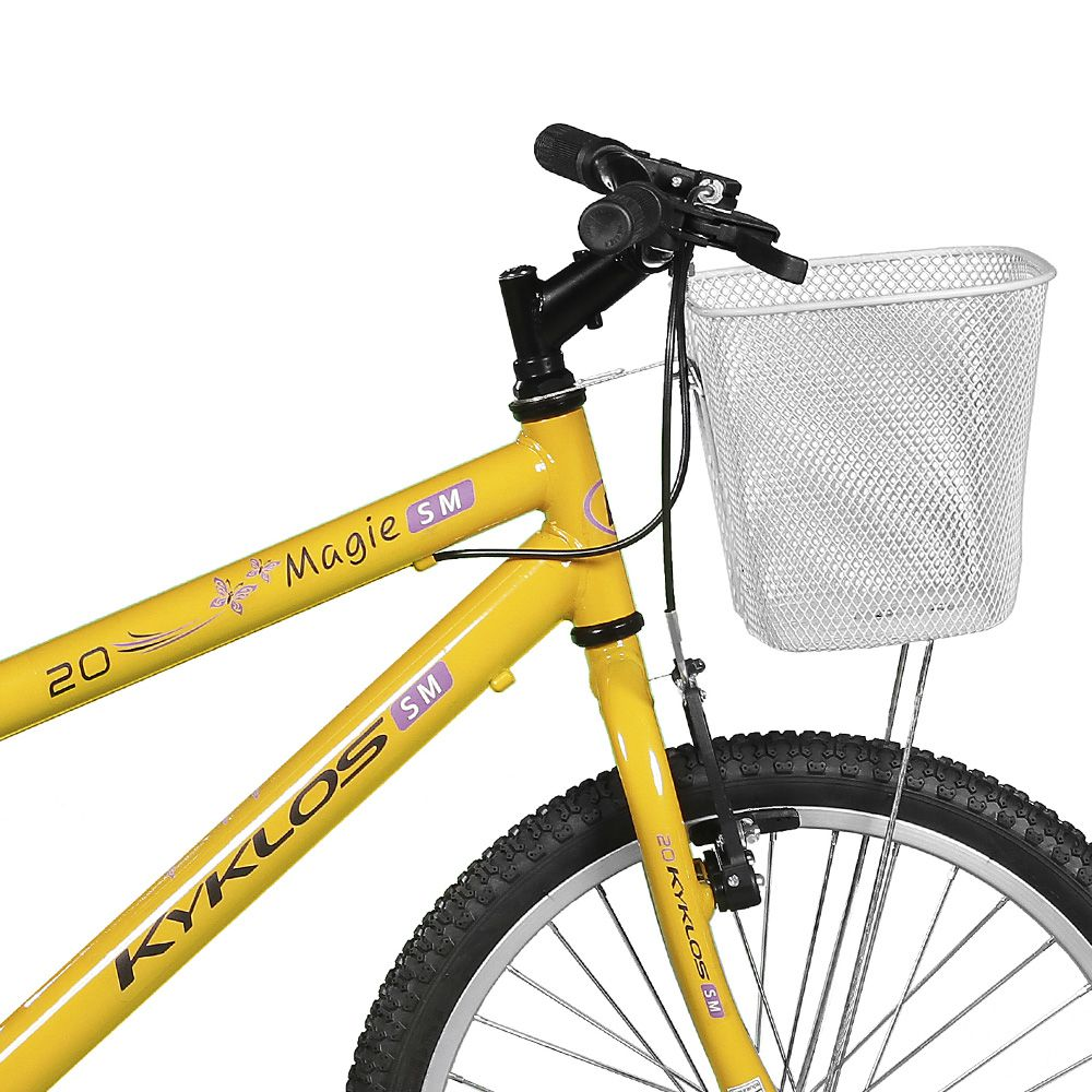 Bicicleta Kyklos Aro 20 Magie Sem Marchas Amarelo