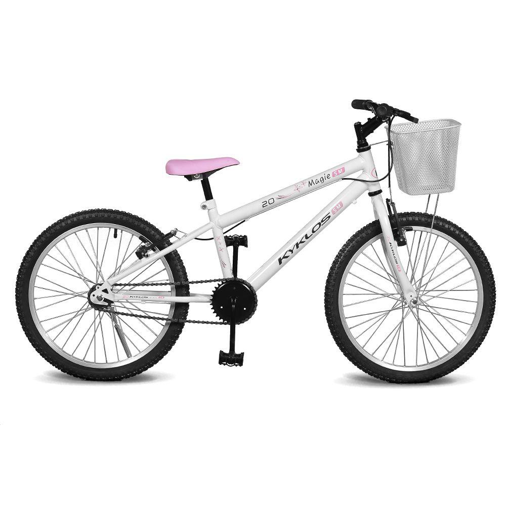 Bicicleta Kyklos Aro 20 Magie Sem Marchas Branco