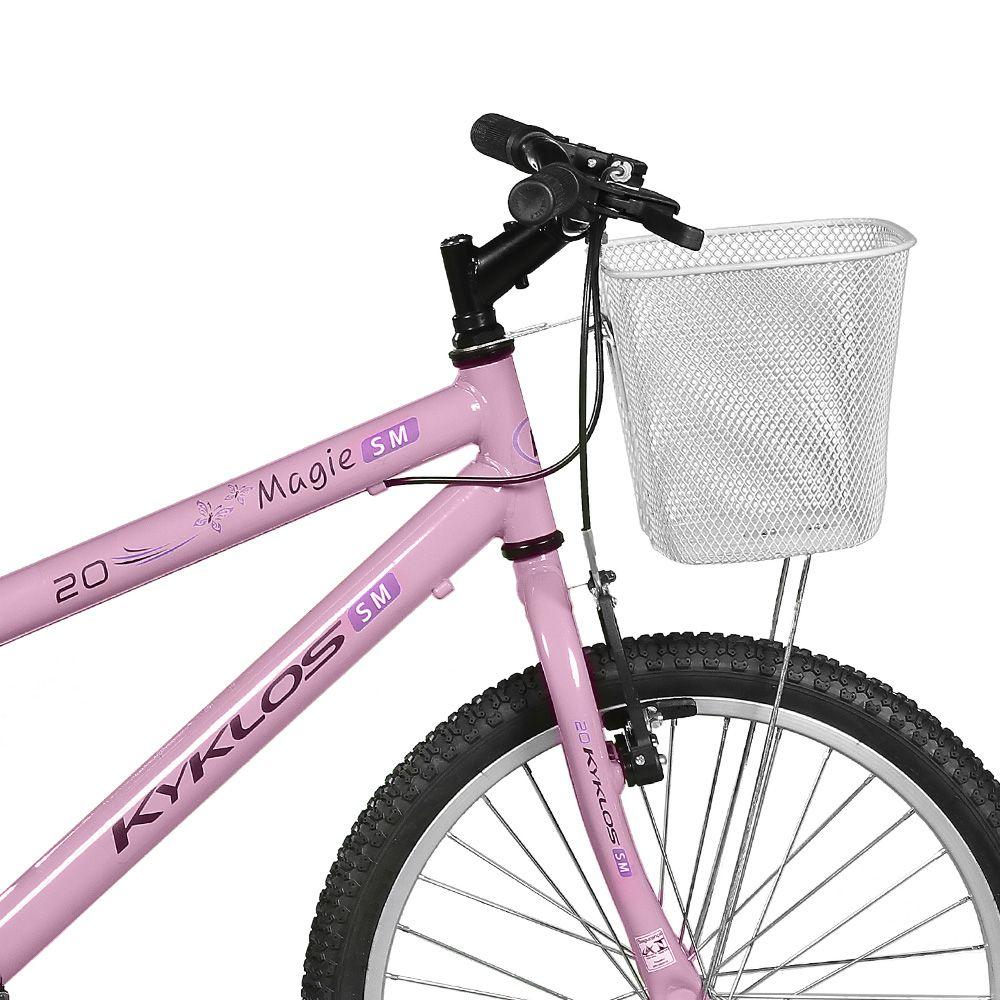 Bicicleta Kyklos Aro 20 Magie Sem Marchas Rosa
