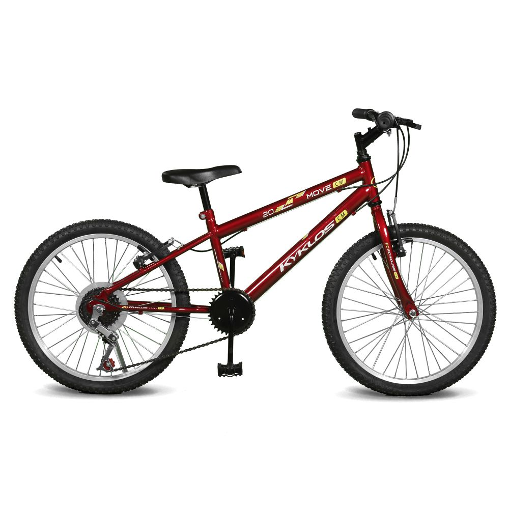 Bicicleta Kyklos Aro 20 Move 7V Vermelho