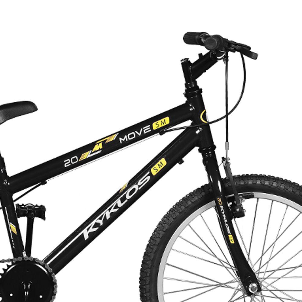 Bicicleta Kyklos Aro 20 Move Sem Marchas Preto