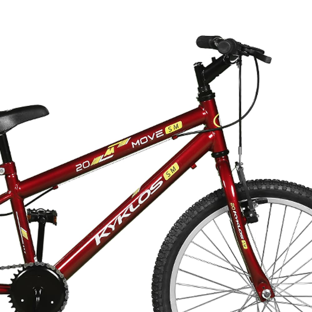 Bicicleta Kyklos Aro 20 Move Sem Marchas Vermelho