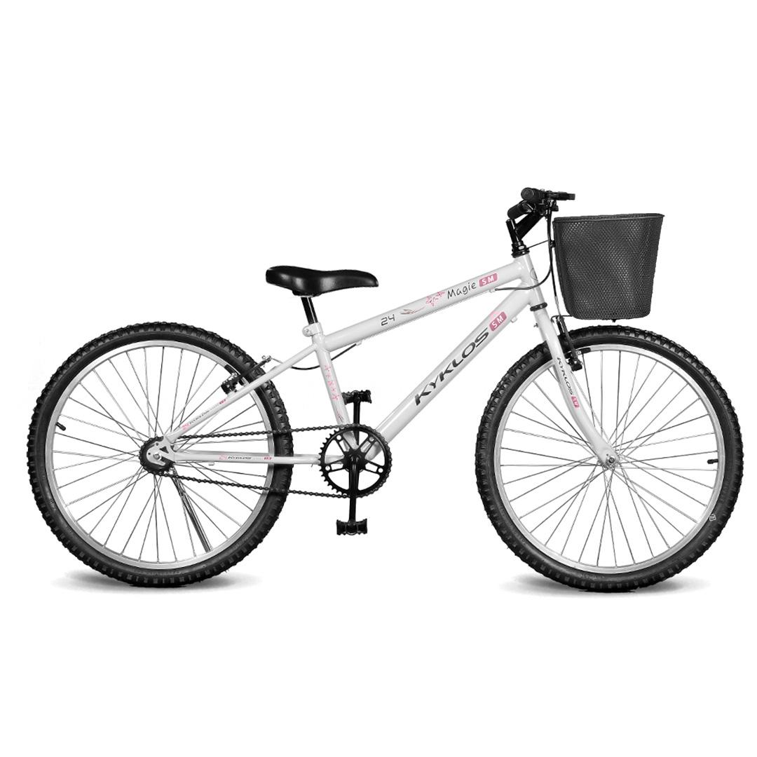 Bicicleta Kyklos Aro 24 Magie Sem Marchas Branca